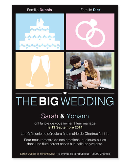"Faire part Magnet ""The Big Wedding"""