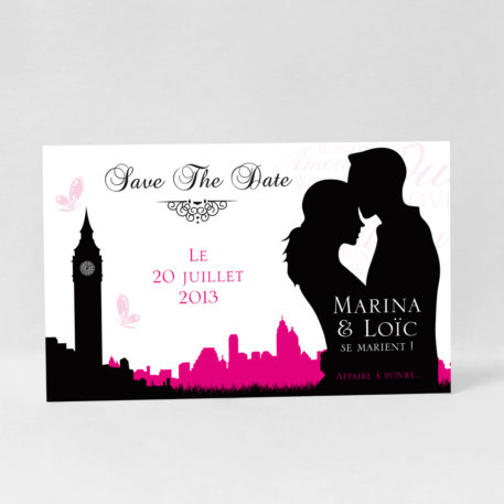 Save the date Love in London DM10-ROM-14C
