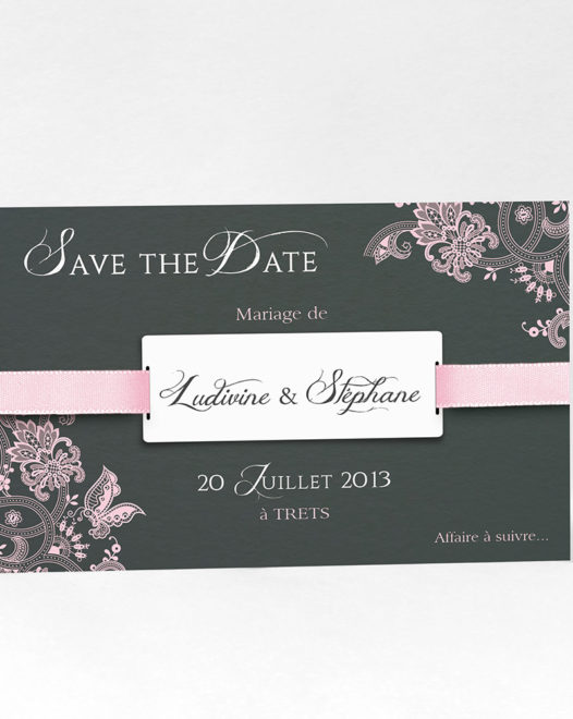 """Save the date magnet """"Papilio"""" Pink"""