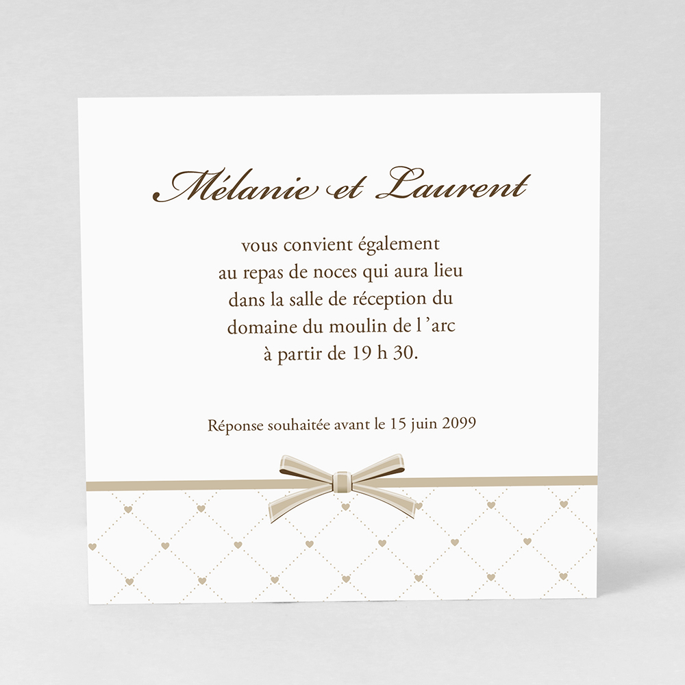 Carte d'invitation Tilda Brown LM53-TRA-11B