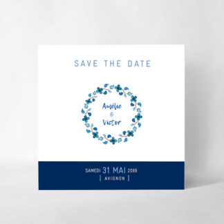 """Save the date magnet """"Something blue"""" AM53-NAT-106"""