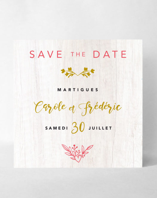 "Save the Date Magnet ""Royal wood"""