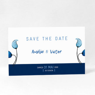 """Save the date """"Something blue"""" DM10-NAT-106"""