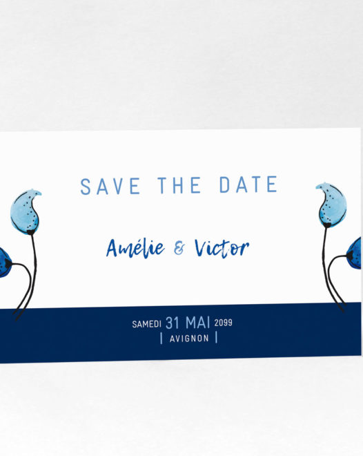 "Save The Date ""Something blue"""