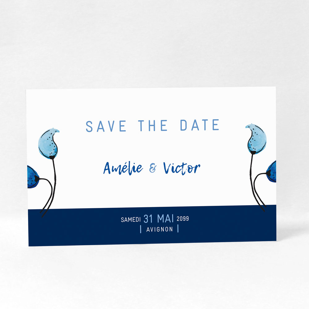 "Save the date ""Something blue"" DM10-NAT-106"