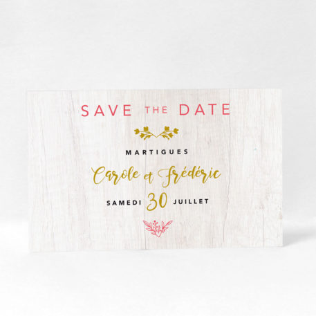 "Save the date ""Royal wood"" DM10-NAT-108"