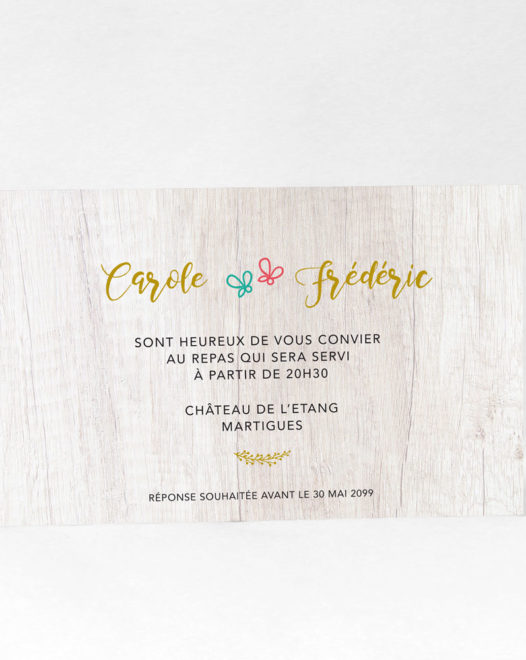 "Carton d'invitation ""Royal wood"""