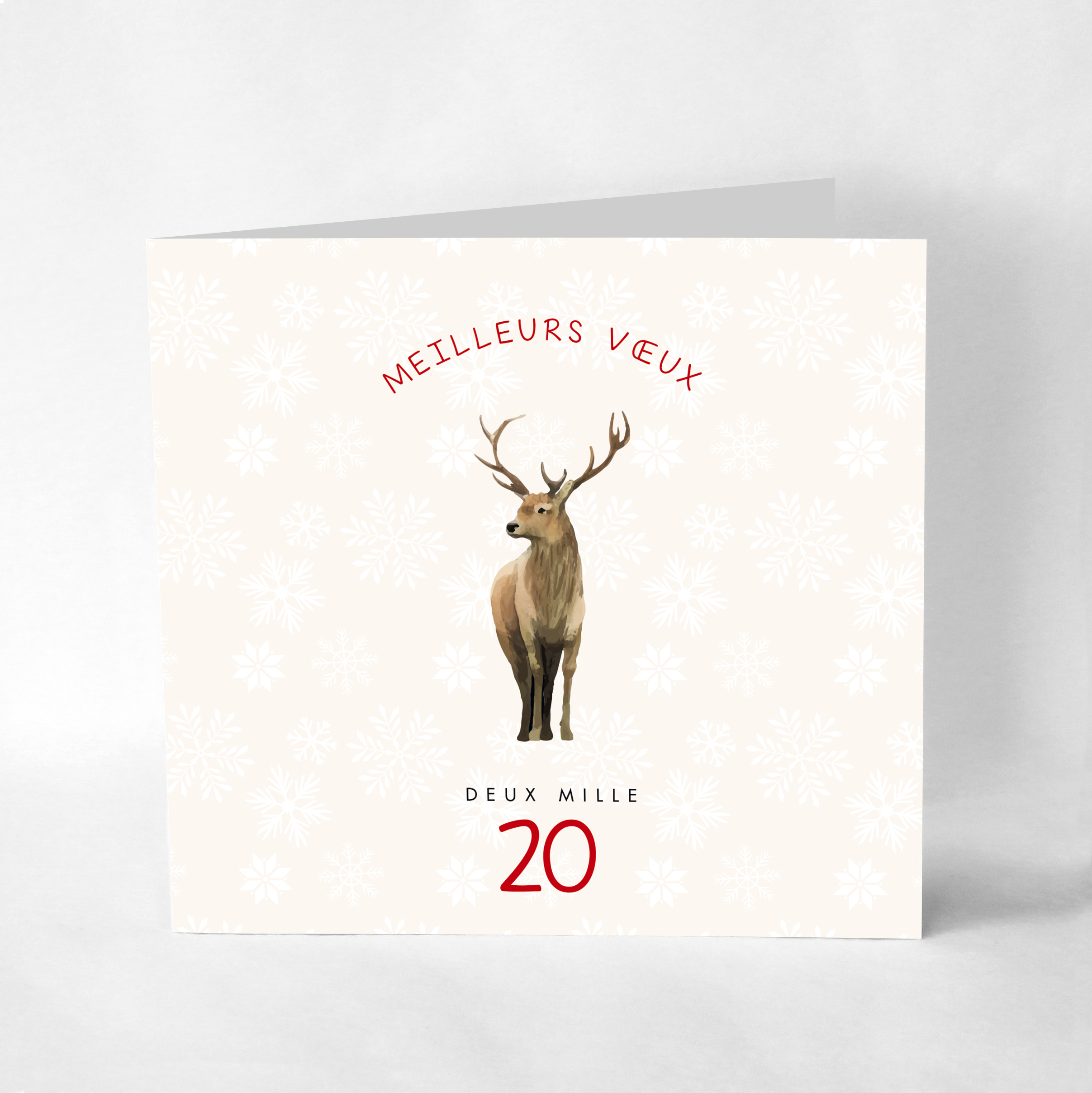 Carte de voeux 2020 le grand cerf – VE01-ZM-025